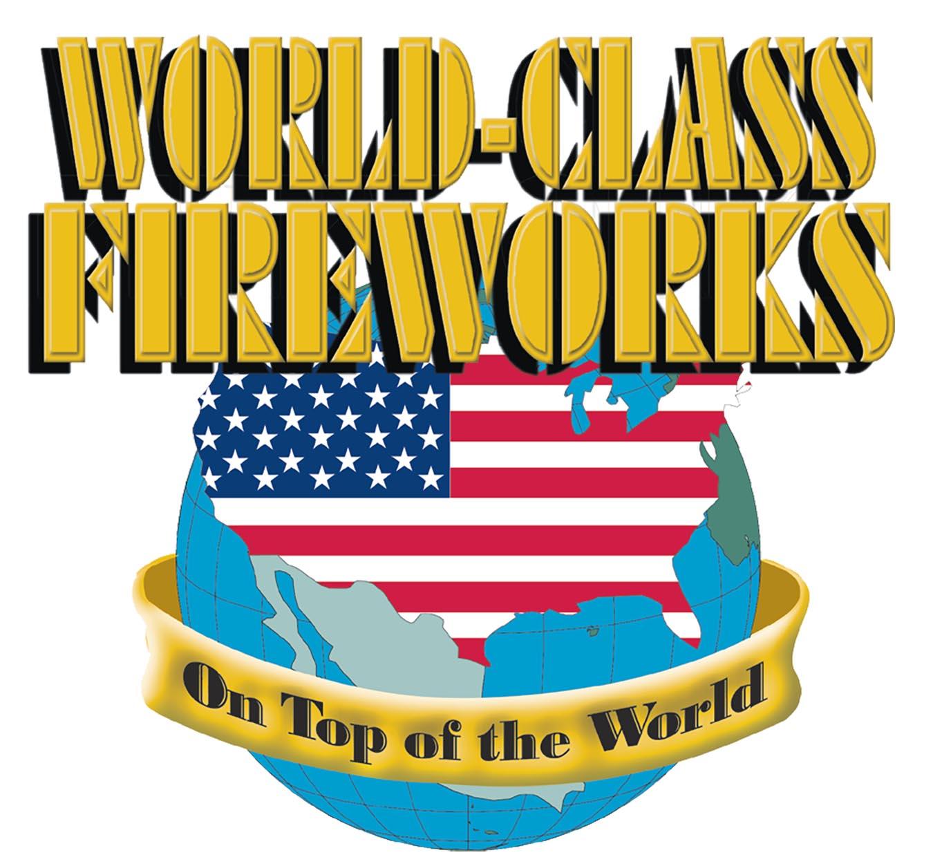 world class best fireworks brand logo